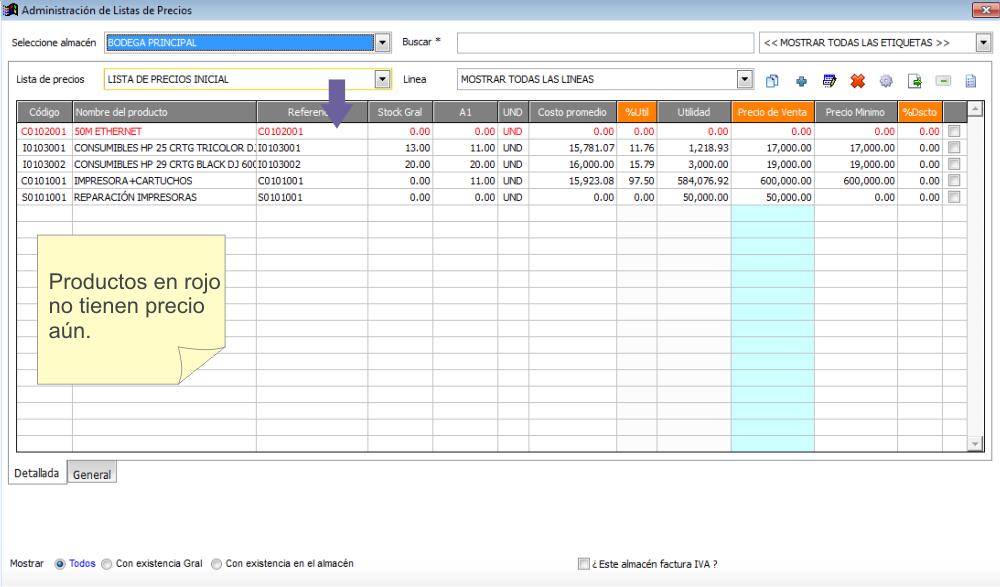 Administración de Listas de Precios — documentación de QualityDOCS ...